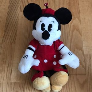 Minnie Mouse Plush Red Polka Dot Dress Disney